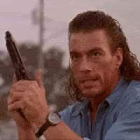 Watch and share Van Damme Mullet GIFs on Gfycat