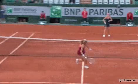 Watch and share Agnieszka Radwanska Tennis Tweener Win GIFs on Gfycat
