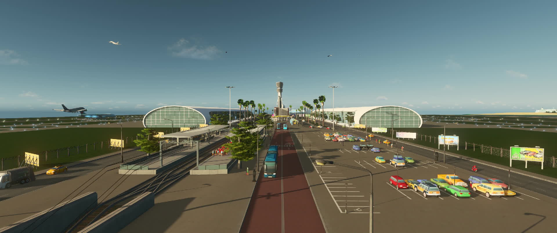 citiesskylines, Howie Islands - Airport Timelapse 1 GIFs