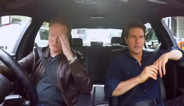 conan o'brien, tom cruise, Conan Drives With Tom Cruise GIFs