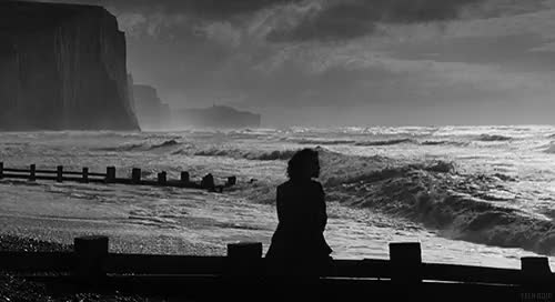 Watch Atonement. GIF on Gfycat. Discover more Atonement, Black and White, Keira Knightley, beauty, bw, clam, clouds, james mcavoy, landscape, mcavoy, ocean, relax, sea, storm, waves GIFs on Gfycat