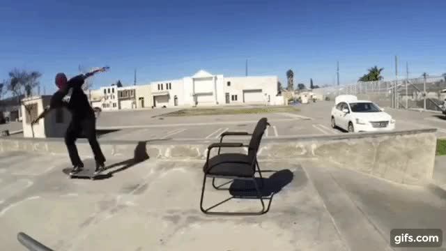 Watch and share Chair And Skateboard GIFs by GlobalSweet on Gfycat