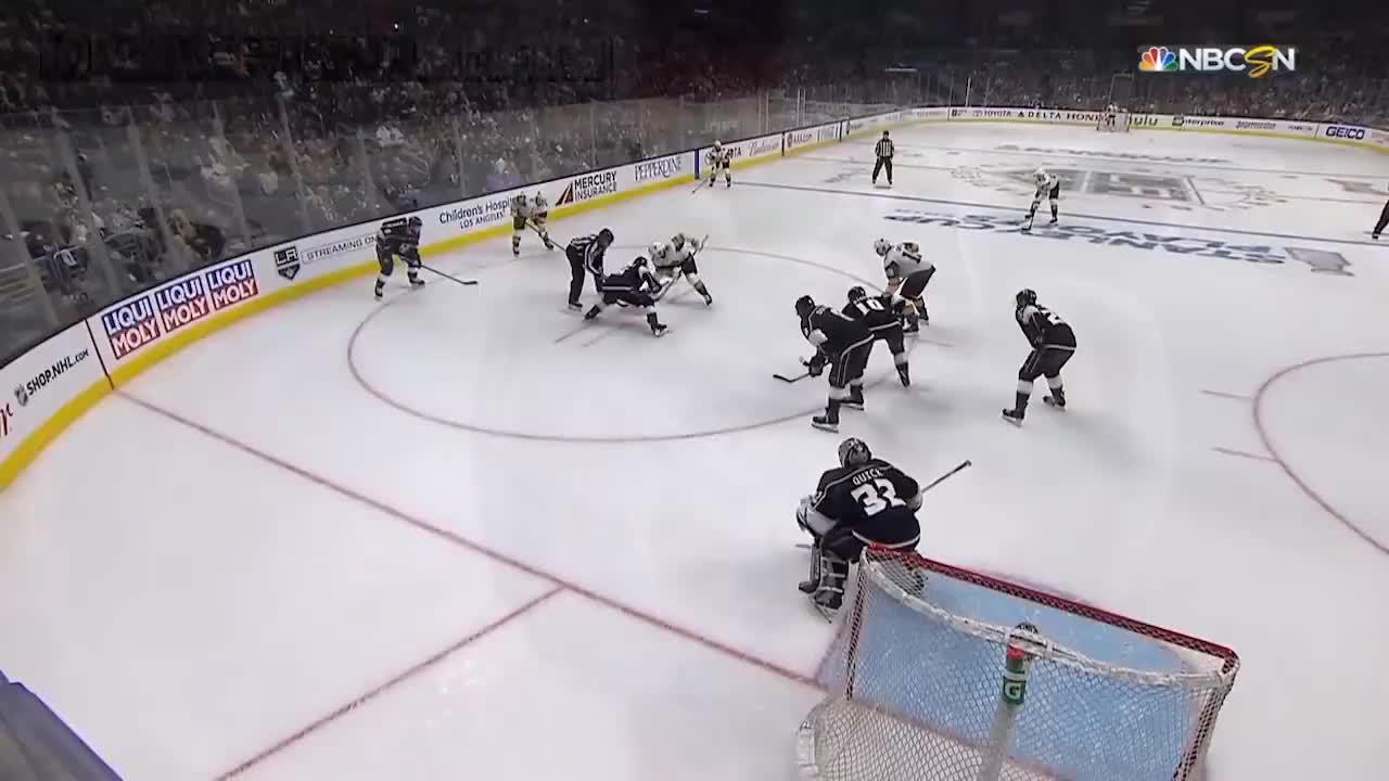 2018-04-16t02, NHL, hockey, icehockey, laK, vgk, Doughty watches GIFs