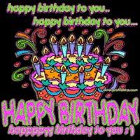 Watch and share Birthday Song  Photo: Happy Birthday 0_birthday_cake_song.gif GIFs on Gfycat