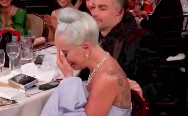 Lady Gaga wins Best Original Song Golden Globe Award GIF by GIF