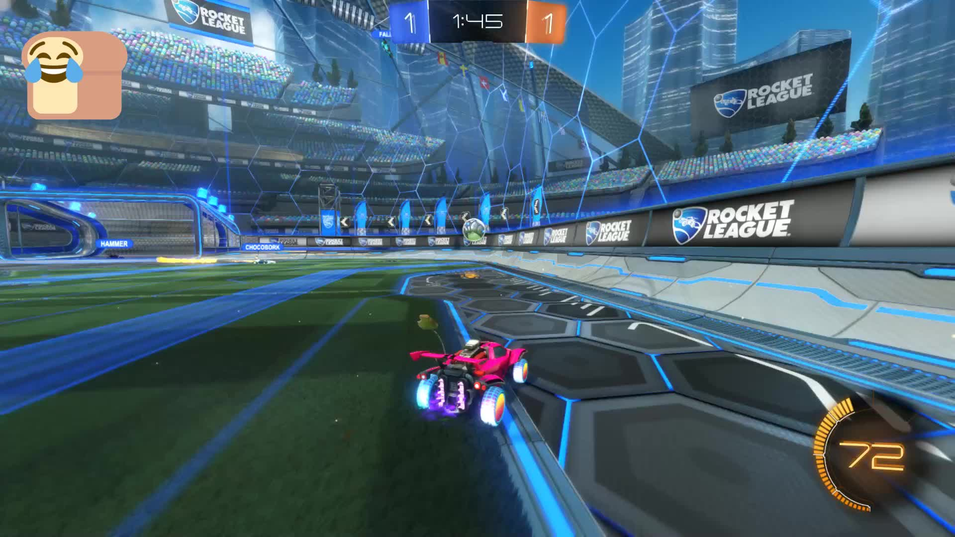 Bread lovin, Gif Your Game, GifYourGame, Goal, Rocket League, RocketLeague, Goal 3: Bread lovin GIFs