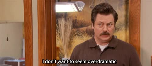 Watch this drama GIF on Gfycat. Discover more drama, dramatic, nick offerman GIFs on Gfycat