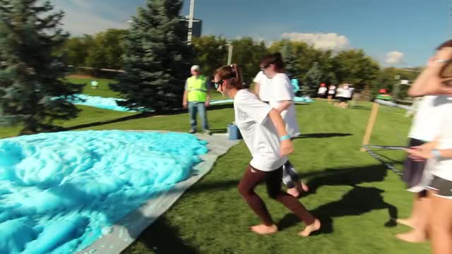 Watch True Blue-Foam Slip N' Slide! GIF by PM_ME_STEAM_K3YS (@pmmesteamk3ys) on Gfycat. Discover more Foam Party, bubble, byu, cam, canon, foam, glide, soap, sony, water GIFs on Gfycat