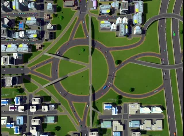 Watch and share A True Roundabout, Not A Traffic Circle, Where Cars Yield And Merge Without Stopping If They Don't Have To (reddit) GIFs on Gfycat