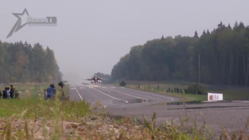 MIG-29 road landing GIFs
