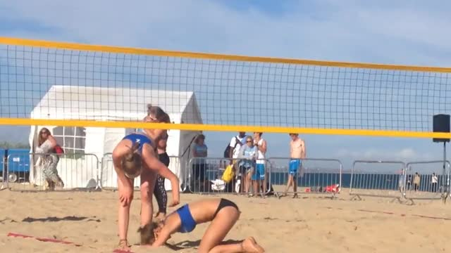Watch and share U19 British Beach Volleyball Championships Final 2015 GIFs on Gfycat