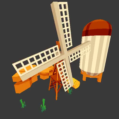 Watch and share Windmill GIFs and Lowpoly GIFs on Gfycat