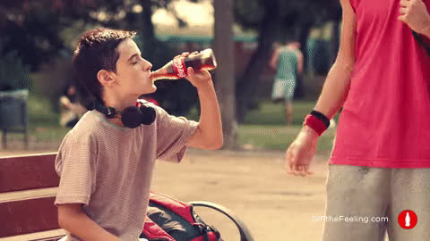 GIF the feeling, GIFthefeeling, beat the heat, coca-cola, cocacola, coke, cool, cool off, fresh, refreshing, share the feeling, sharethefeeling, soda, Surprise a friend - GIF the Feeling GIFs
