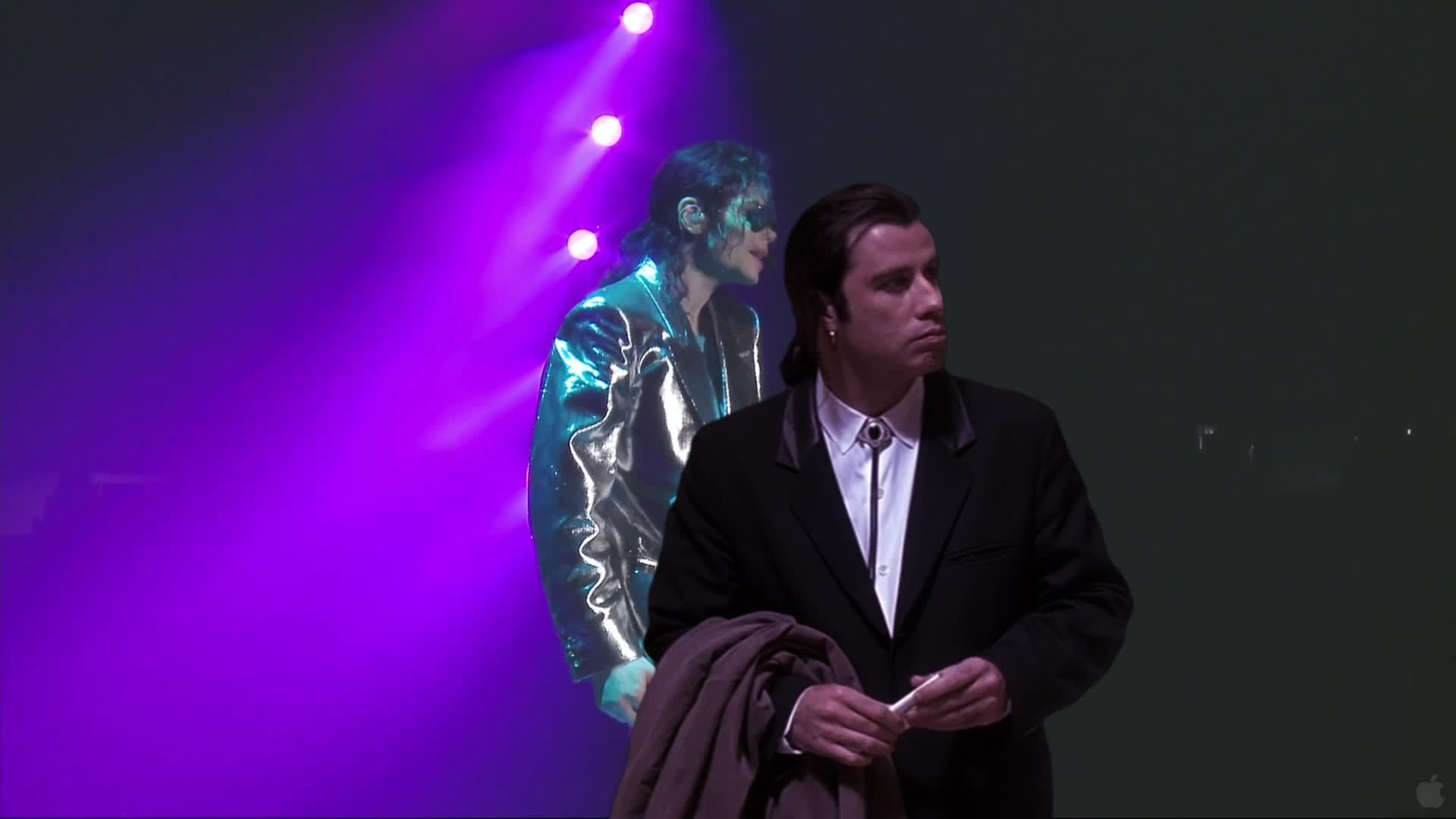 ConfusedTravolta, confusedtravolta, Travolta finds himself on stage GIFs