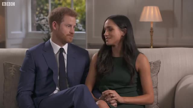 Watch FULL Interview: Prince Harry and Meghan Markle  - BBC News GIF on Gfycat. Discover more Meghan, Royal, Sussex, bbc, duchess, news GIFs on Gfycat