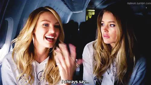 Watch My two favorite blondes. GIF on Gfycat. Discover more 2014, Angel, Blonde, Candice Swanepoel, Doutzen Kroes, Model, My Gif, Popular, VSFS, Victoria's Secret, Victoria's Secret Fashion Show GIFs on Gfycat