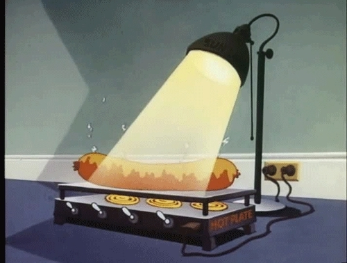 food, hot dog, hot plate, hot dog on hot plate GIFs
