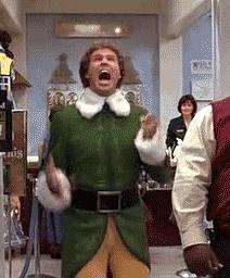 elf, excited, will ferrell, woo, woohoo, yay, Yay GIFs