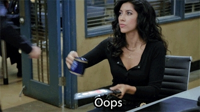 Stephanie Beatriz, brooklynninenine, oops, rosa, Water and Electronics, Oops! GIFs
