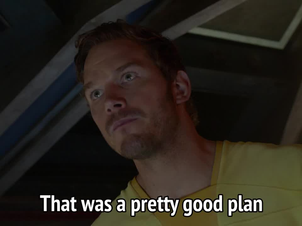 chris pratt, guardians of the galaxy, Guardians of the Galaxy - That was a pretty good plan GIFs