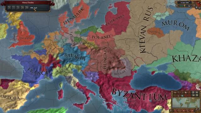 Europa Unversalis IV + Extended Timeline MOD Timelapse - Hungary