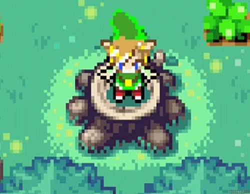 Watch and share Gif Gaming Zelda Nintendo Legend Of Zelda Loz Pixels Gba The Minish Cap GIFs on Gfycat