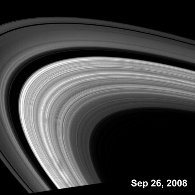 Saturn ring spokes animation