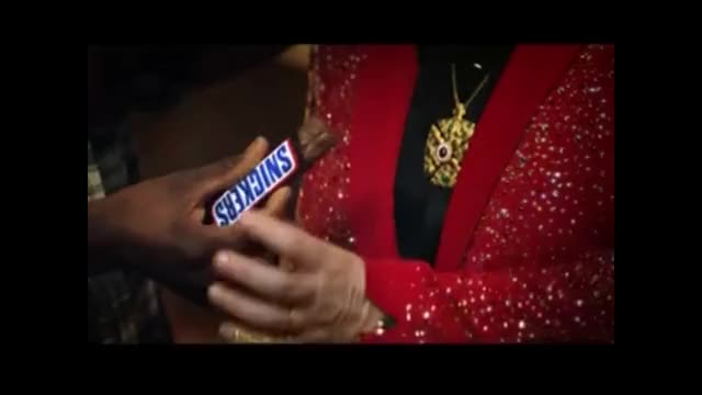 Watch Snickers Commercial with Elton John GIF on Gfycat. Discover more Snickers, Yummy, commercial, food, hungry, racism, rap GIFs on Gfycat