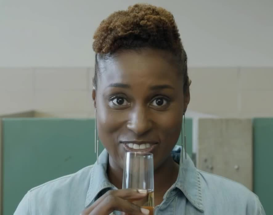 GIF Brewery, aw, awkward, aww, awww, drink, funny, hbo, hilarious, insecure, laugh, laughing, lol, moment, no, no time to waste, smile, time, to, waste, Insecure HBO GIFs