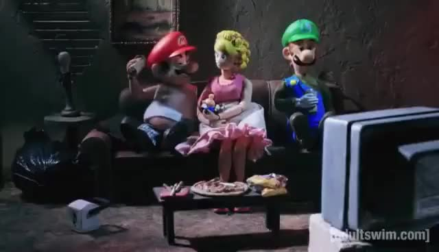 Watch and share Mario Party | Robot Chicken | Adult Swim GIFs on Gfycat