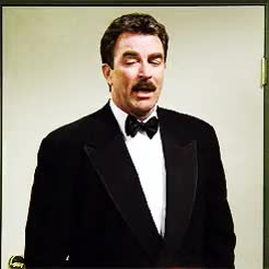 Watch and share Tom Selleck GIFs and Tuxedo GIFs on Gfycat