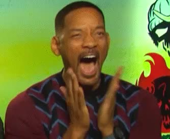 applause, celebrate, excited, funny, glad, happy, hilarious, proud, smith, squad, suicide, will, will smith, Happy Will GIFs