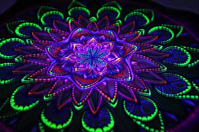 Watch and share Colour Shifting On A Tapestry (PsychonautWiki.org) GIFs by josie kins on Gfycat