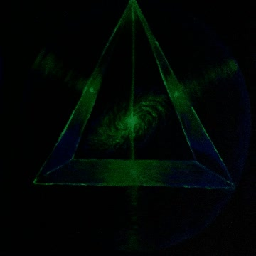 Watch and share The Cosmic Pyramid Energy Fluorescent Painting Energia Cosmica Piramidelor Pictura Fluorescenta GIFs on Gfycat
