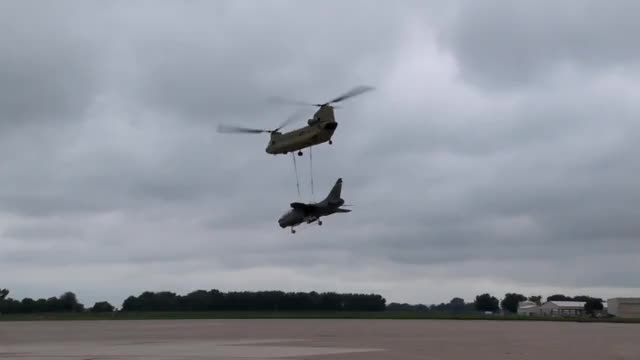 Watch and share Chinook Giving A Corsair A Ride. (reddit) GIFs by forte3 on Gfycat