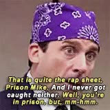 Watch and share Michael Scott GIFs and Prison Mike GIFs on Gfycat