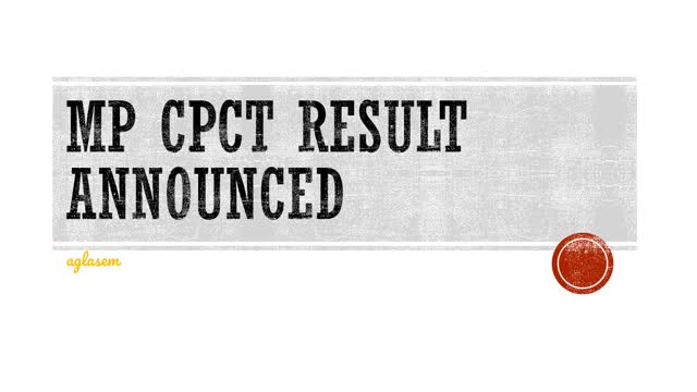Watch and share MP CPCT Result Announced GIFs on Gfycat