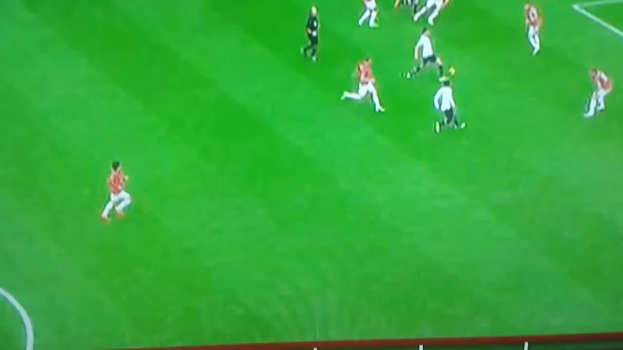 Vidic Vs Kyle Walker Huge Tackle GIF By The Angry Camel