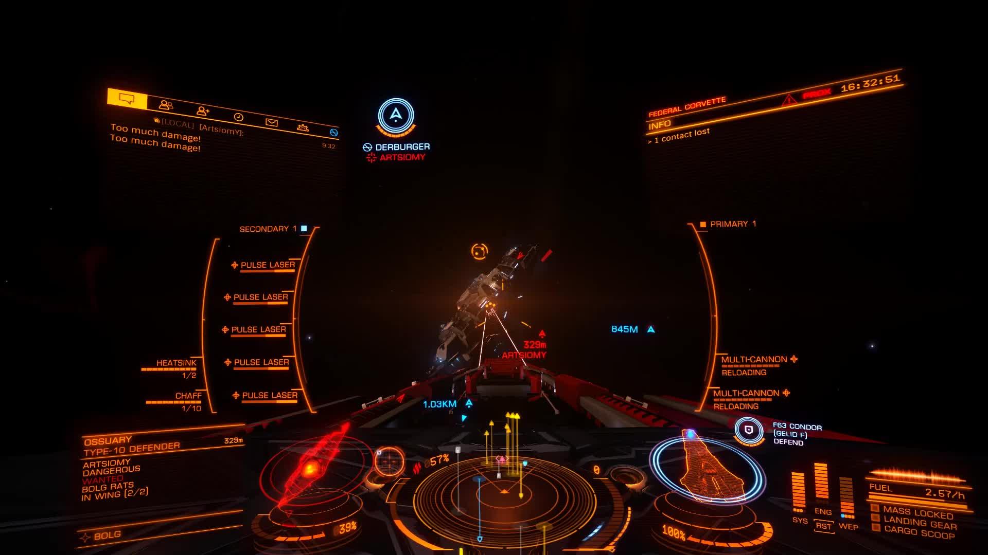 elitedangerous, DerBurger flying by in a guardian fighter GIFs