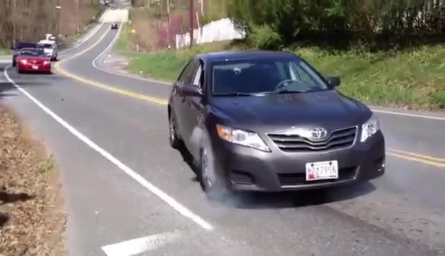 Watch and share Toyota Camry Burn Out.MOV GIFs on Gfycat