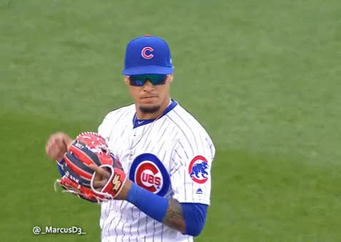 Watch and share Javier Baez Reaction After Quick Tag (2) GIFs by MarcusD on Gfycat
