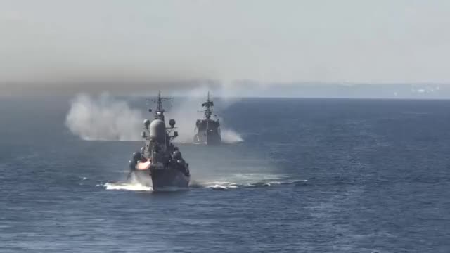 Watch Russian Navy Northern Fleet firing multiple types of weapons GIF by @snokng on Gfycat. Discover more Northern Fleet, Russian Navy GIFs on Gfycat