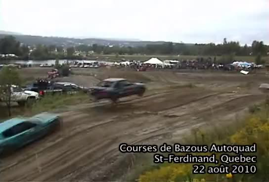 Watch and share Car Jump Over Another One While Racing At Courses De Bazous St Ferdinand 2010 GIFs on Gfycat