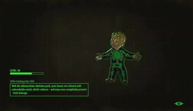 Watch Fallout4 Adamantium Skeleton Perk GIF on Gfycat. Discover more related GIFs on Gfycat