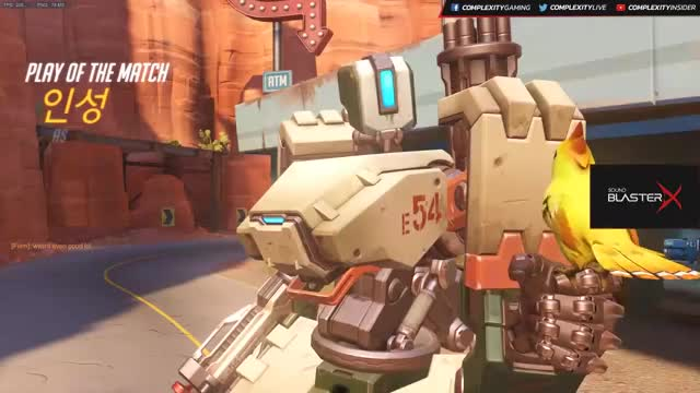 HARBLEU vs. AIMBOT Bastion Route 66 Overwatch