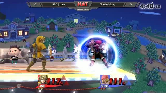 HAT 0 - BSD | Izaw (Link) vs. Charliedaking (Sheik) Winners Semis