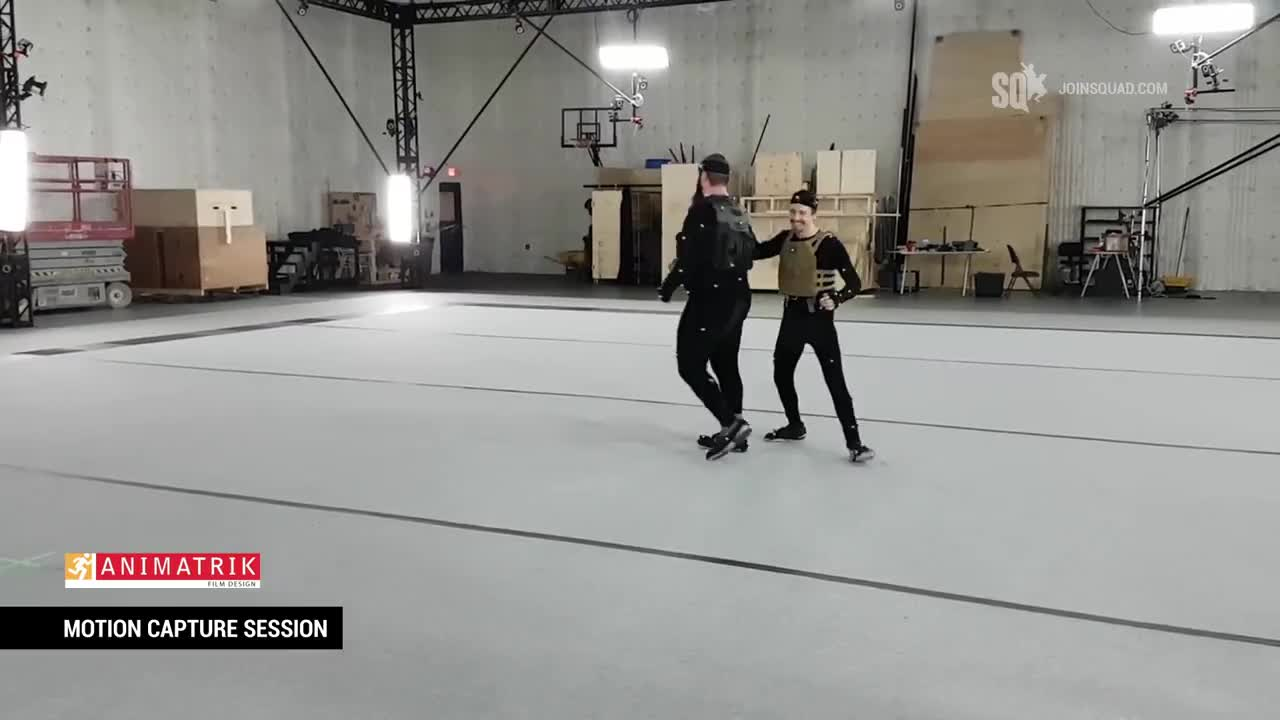 Squad Motion Capture Session July 2017