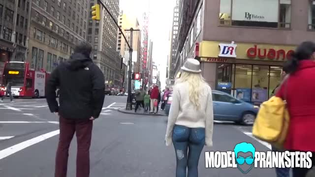 Consider, that Girl walks around with no pants nyc