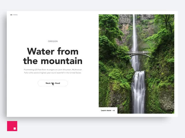 Watch and share InVision Studio — Waterfall Transition GIFs by danielkorpai on Gfycat
