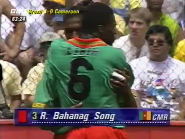 Watch CAMEROON - Song red card, 1994 GIF on Gfycat. Discover more related GIFs on Gfycat